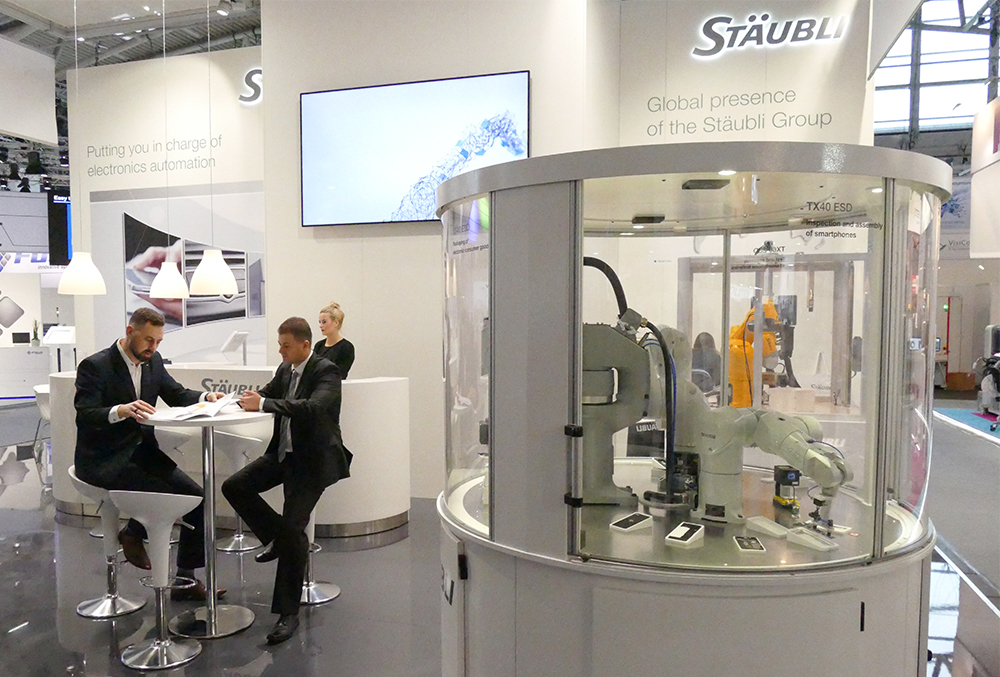 Stäubli booth at Productronica